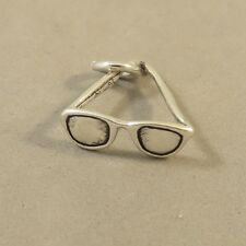 .925 Sterling Silver 3-D SUNGLASSES CHARM Pendant NEW Eye Glasses 925 DU84