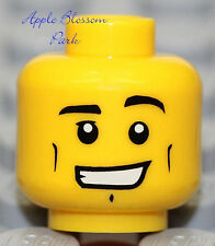 NEW Lego Male MINIFIG HEAD Boy w/Smile -City/Kingdoms/Pirate/Castle/Police Agent