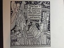 1930s Print of a woodcut by C B Falls from story of the birth of Jesus Christ
