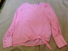 New Look Ladies Pink Long Sleeve Top Size 10 Great Condition