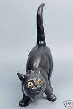 Old or Antique Majolica Cat Figurine - Terracotta Faience Roof