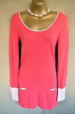 LAURA ASHLEY pink cotton blend tunic jumper dress 8
