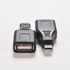 Portable Network USB 2.0 A Female to Micro USB B 5 Pin Male Cable Hub Adapter AU