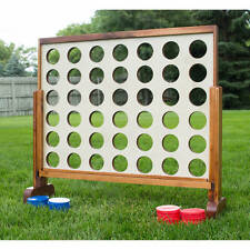 Giant Yard Game Connect 4 In A Row Kids Adults Teens Toy Party Outdoor Wood Game