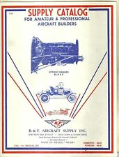 Supply Catalog for Amateur and Professional Aircraft Builders Airplanes