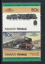TUVALU FUNAFUTI LOCO 100 EST CLASS 241A LOCOMOTIVE FRANCE STAMPS MNH