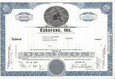 EUROFUND INC.........1960 STOCK CERTIFICATE