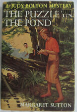 Judy Bolton #34 PUZZLE IN THE POND HBDJ Margaret Sutton 1st Edition Mystery
