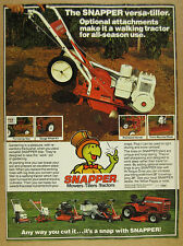 1980 Snapper Versa-Tiller walking tractor attachments photo vintage print Ad
