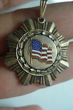 Vintage Estate Vietnam War Signed LGB .925 sterling Silver US metal~NR~Free Ship