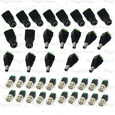 10 set CAT5 to BNC Coaxial Video Balun + 2.1mm Male Female DC Power Connector
