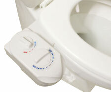 Hot & Cold Nozzle Non-Electric Bidet Toilet Attachment Water Spray Bathroom Seat