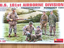 Miniart 1:35 U.S. 101st Airborne Division Normandy 1944 WWII Figures Model Kit