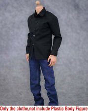 """1/6 ZY Toys Black Shirt Jeans Suit Male Clothing Set For 12"""" Action Figure Body"""