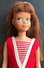 Vintage Barbie: Straight Leg Skipper #950 RARE Auburn Hair & Original Swimsuit