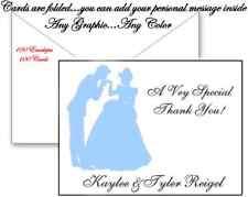 100 Personalized Custom Disney Cinderella Bridal Wedding Thank You Cards