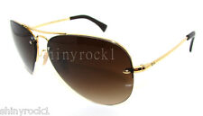 Authentic RAY-BAN Gold Aviator Sunglass RB 3449 - 001/13 *NEW*  59mm