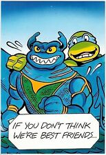 Teenage Mutant Ninja Turtles TMNT Greeting Card #4 (Nexoft, 1989) Leonardo
