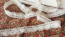 1m Vintage style Cotton crochet lace edge trim OFF WHITE / CREAM  Ribbon Sewing