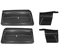 1969 Chevy Camaro Convertible Front and Rear Door Panel Set Black  Z-28,RS,SS,