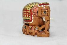 Indian Handicraft Wooden Elephant Family Figure Painted Decorative Gift item