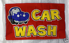 CARTOON CAR WASH flag 3x5 banner concession business advertise sign FREE SHIP