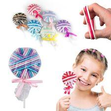 Sucette multicolore avec 24 élastiques pour cheveux - Lollipop Rubber Hair Bands