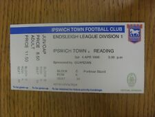 06/04/1996 Ticket: Ipswich Town v Reading  (folded). Thanks for viewing our item