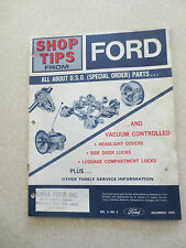 1966 Ford Truck DSO parts vacuum controlled door systems - Shop tips bulletin