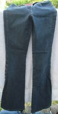 Parasuco Size 24 Ergonomic Small Blue Jean Pants Pair Side Buttons Low Preowned