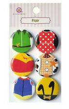 Scrapbooking Crafts Embellishments Queen&CO Disney Characters Flair Buttons 2