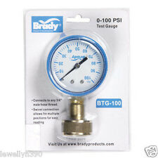 "Brady Water Pressure Gauge 0-100 PSI 3/4 "" Female Lead Free BTGIND CS-NL  NEW!"