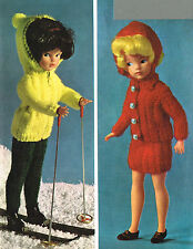 "12""  Dolls clothes knitting pattern.Laminated copy. (V Doll 26)"