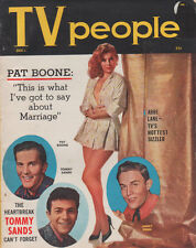 Dec 1957 TV People Magazine Pat Boone Jimmy Dean Abbe Lane Tommy Sands