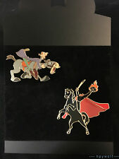 Cast Disney HEADLESS HORSEMAN & ICHABOD CRANE 2 Pin Set LE 200 Burbank Studios