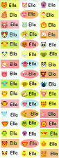 Personalized Waterproof Name labels stickers, 36 cartoon , day care, school,