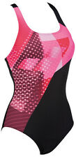 Arena Himmel Woman One Piece Swimming Suit Black/Fresia-Rose Swimsuit New UK 36