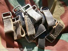 Anello tedesco originale pelle spallacci passante, original german belt loop WW2