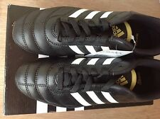 NEW ***ADIDAS*** DAVICTO III TRX FG Black Leather Football Soccer BOOTS