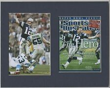 NEW ENGLAND PATRIOTS MATTED PICS OF SUPER BOWL 38 SPORTS ILL COVER&TOM BRADY PIC