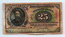 1888 25c P-S111 Puerto Plata DOMINICAN REPUBLIC Currency AMERICAN BANK NOTE CO