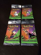 (4) Gym Challenge Sealed Pokemon Long-Pack Booster Packs!!!