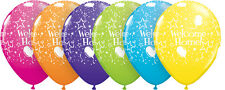 "6 WELCOME HOME 11"" Latex Balloons (Qualatex) Party/Decoration (Helium)"