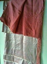 antique vintage double sided dusky pink silk fabric bedspread, curtain