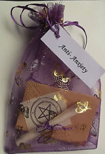 Anti Anxiety Spell Kit  Votive Candle and Bath Magic Wicca