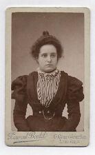 PHOTO CDV Carte de visite Laurent Boutet Limoges Femme Coiffure Robe Vers 1900