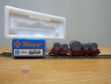 ROCO #  4396 D,  wagon plat pour transport de coils  type Shis  SNCB   Neuf  BO