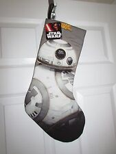 """Star Wars BB-8  Droid Christmas Stocking Printed Quilted Embroidered 20"""" NWT!"""
