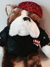 "20"" DAN DEE I WUFF YOU BIKER MOTORCYCLE BULLDOG DOG PLUSH BANDANA JACKET"
