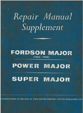 FORDSON MAJOR, POWER MAJOR, SUPER MAJOR TRACTOR REPAIR SERVICE MANUAL